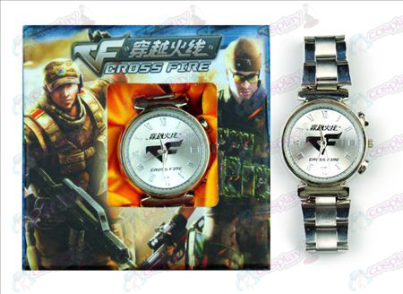 CrossFire Accessori logo Watch (Bianco)