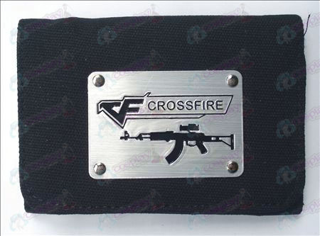 CrossFire Accessori Bianco Canvas Wallet (Black)