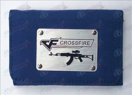 CrossFire Accessori Bianco Canvas Wallet (Blu)