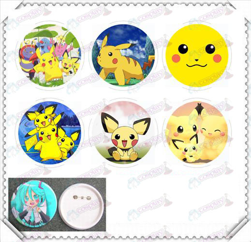 6 montato 75MM luce cinematografici badge-Pokemon Accessori