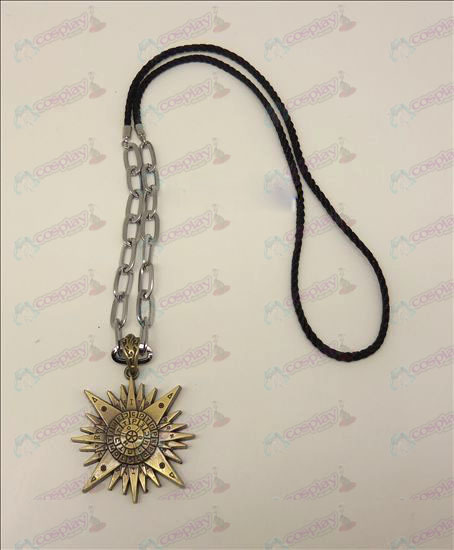DD.Gray-man accessori logo punk lunga collana (bronzo)