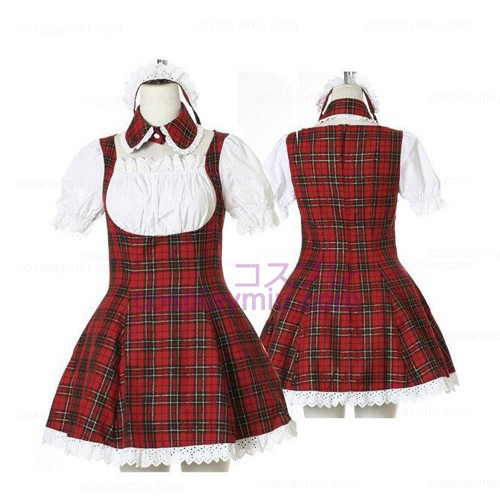Sweet Red Plaid cameriera Cosplay Lolita Cosplay