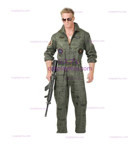 Top Gun Army Air Force Flight Suit Costumi di Halloween