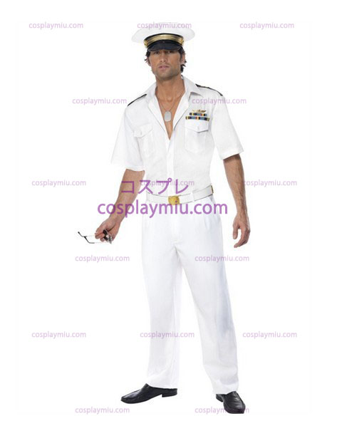 Mens Top Gun Captain Airforce Costumi