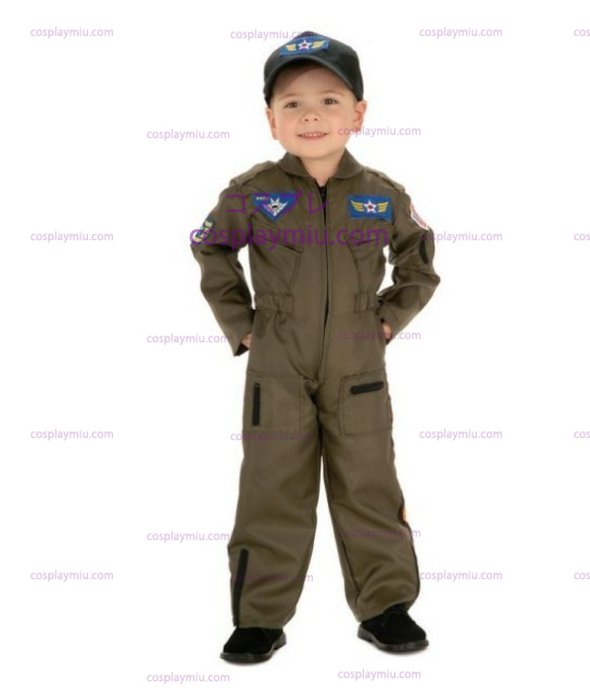 Kid Air Force Fighter Pilot Top Gun Costumi di Halloween