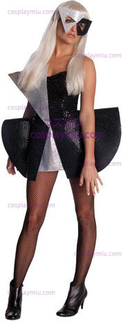 Lady Gaga Blk Vestito di paillette Std