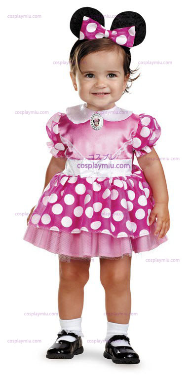 Minnie Mouse Rosa Infant Costumi