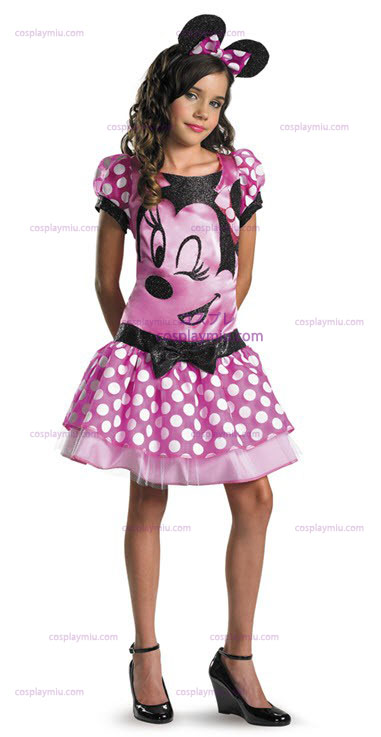 Clubhouse Minnie Mouse Costumi Bambino Rosa