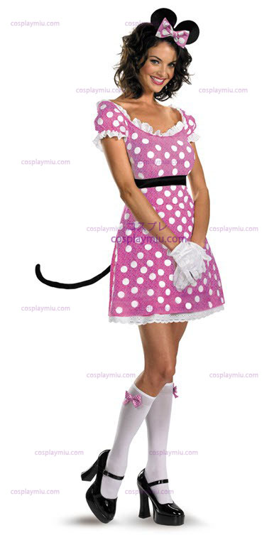 Disney Clubhouse Rosa Minnie Mouse Costumi Adult
