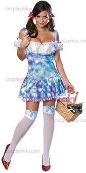 Auguri Wizard Secret Of Oz Sparkle Dorothy Costumi Adulto