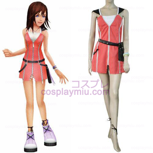 Kingdom Hearts 2 Kairi Vestito rosa Costumi cosplay