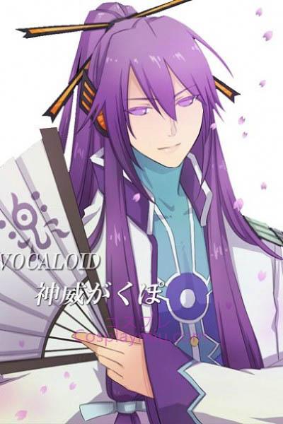 vocaloid viola lungo parrucca di cosplay gakupo vocaloid