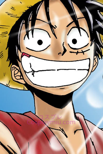 One Piece Monkey D. Luffy Cosplay parrucca corta